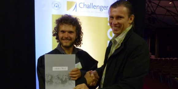From Left: The Winner Mathew Woods & President Pawel Waryszak.